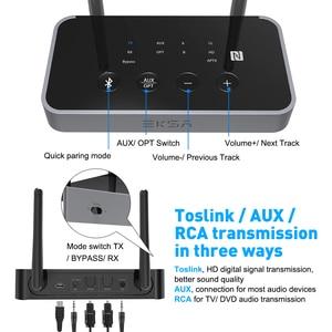 Image 3 - EKSA Bluetooth 5,0 Audio Sender Empfänger Niedrigen Latenz 3 in 1 Optische/3,5mm AUX/SPDIF Bluetooth Adapter für TV Kopfhörer
