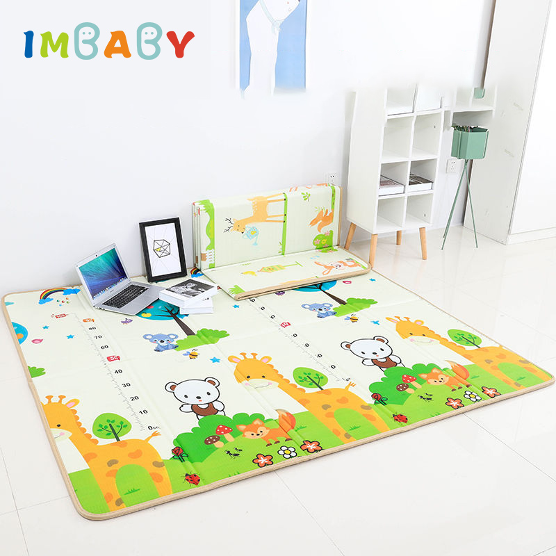 IMBABY Children Game Carpet Kids Room Mat Baby Play Fence Mat Double Surface Baby Carpet Baby Playmat For Tent Children Game Pad(China)