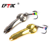 Buy FTK 1PCS Spinner bait Spoon Ice Fishing Lure 5g/33mm 10g/44mm 15g/50mm 20g/56mm  Fishing Bait Treble Hook Bass Fishing directly from merchant!