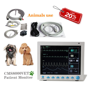 US Seller, Vet Veterinary Patient Monitor 6 Parameter,ECG,NIBP,PR,Spo2,Temp,Resp CMS8000 VET