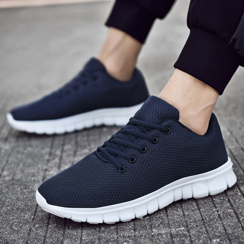 Men Running Shoes Lightweight Jogging Shoes Couple Sports Sneakers Breathable Mesh Athletic Zapatillas Mujer Sneakers Women 47#