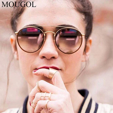 MOUGOL Sunglasses Women/Men 2019 Vintage Round Sun Glasses Double Beam Brand Designer Mirrored lentes de sol hombre/mujer UV400