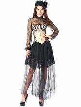 Сексуальное платье с корсетом бюстье косточками Готический корсет