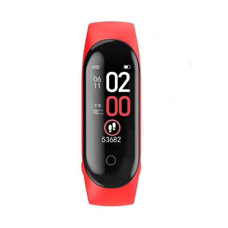 Умный Браслет M4, шагомер, цветной экран, кровяное давление, пульсометр, шагомер, спортивный браслет, шагомеры для здоровья, браслет