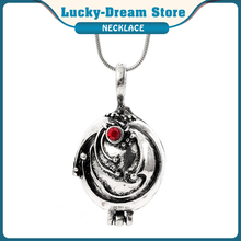 Movie The Vampire Diaries Necklace Vintage Verbena Crystal Pendant Can Open The Secret Space Elena Gilbert Same Style