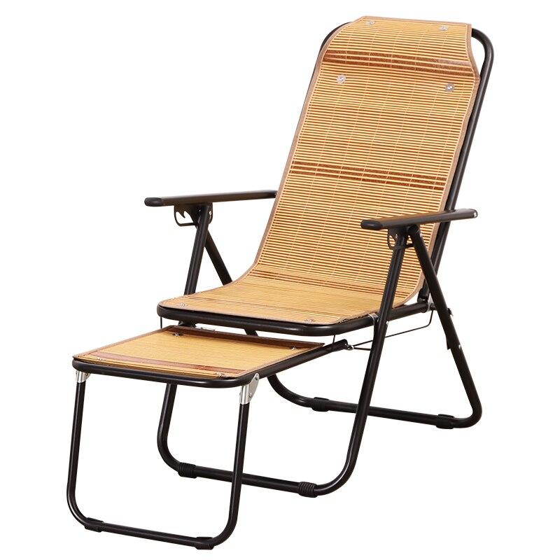 Inclinable pliant pause déjeuner personnes âgées été balcon dormir bambou chaise bureau pliant dossier chaise bambou inclinable