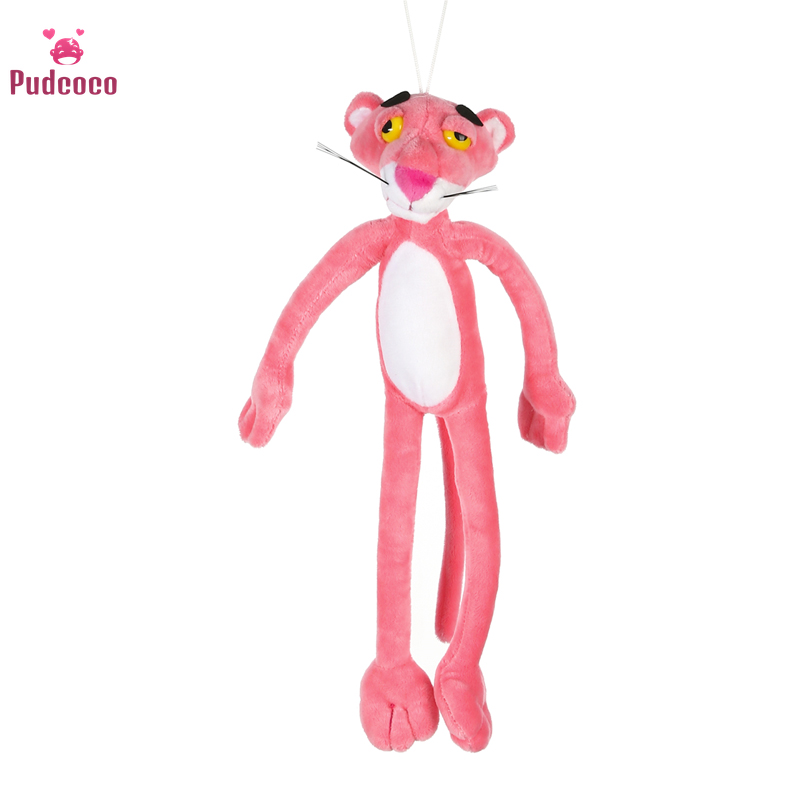 Pudcoco Brand 38cm Cute Cartoon Leopard Naughty Pink Panther Plush Toys Stuffed Animal Baby Playing Toy Kid Doll Bebe Gift