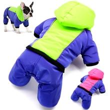 Ropa reflectante para perros abrigo cálido abrigo de invierno chaqueta ropa para mascotas Bulldog francés ropa Samll mediano perros traje mono