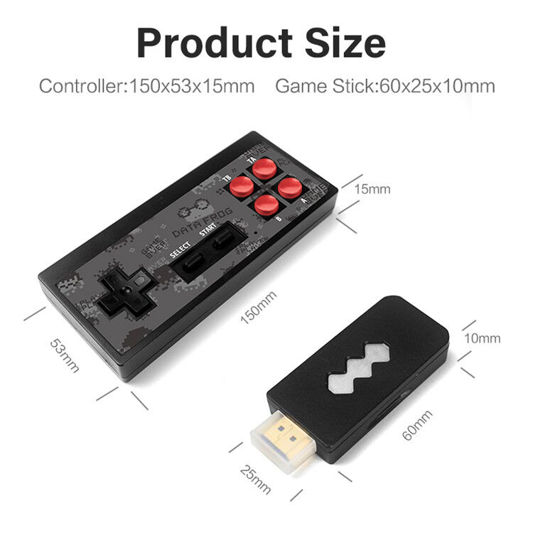 DATA FROG 4K HDMI Video Game Console Built in 568 Classic Games Mini Retro Console