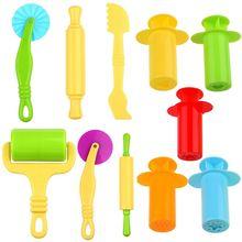 Smart Dough Tools set - 5 sets of Extruders tools plus 6pcs of basic dough tools - - Assorted color Extruder tools + dough tools tools