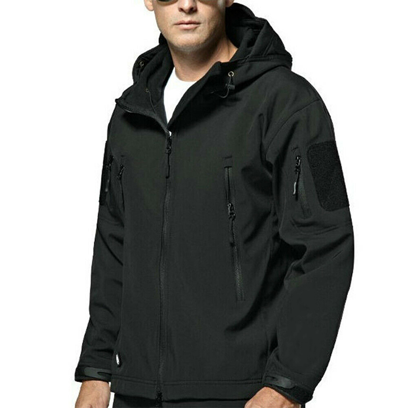Waterproof Winter Mens Outdoor Jacket Tactical Coat Soft Shell Jackets Climbing Casual Outerwear Tops