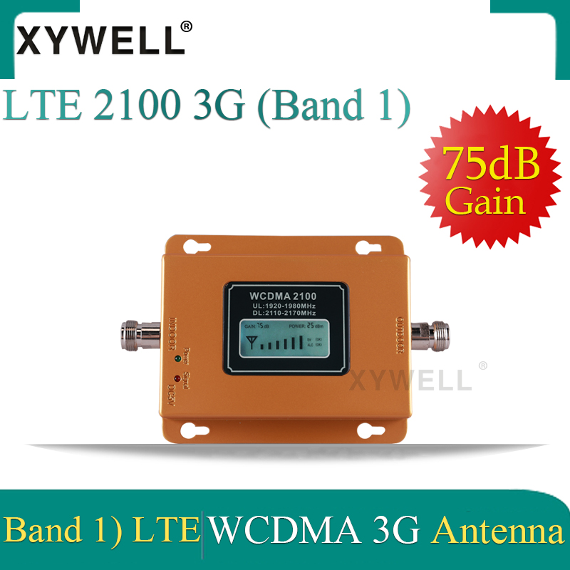 XYWELL 75db 3g 2100 Repeater Cell Phone Signal 2100MHz Repeater Mobile 2100 MHz Signal Booster Amplifier 3G LTE WCDMA UMTS