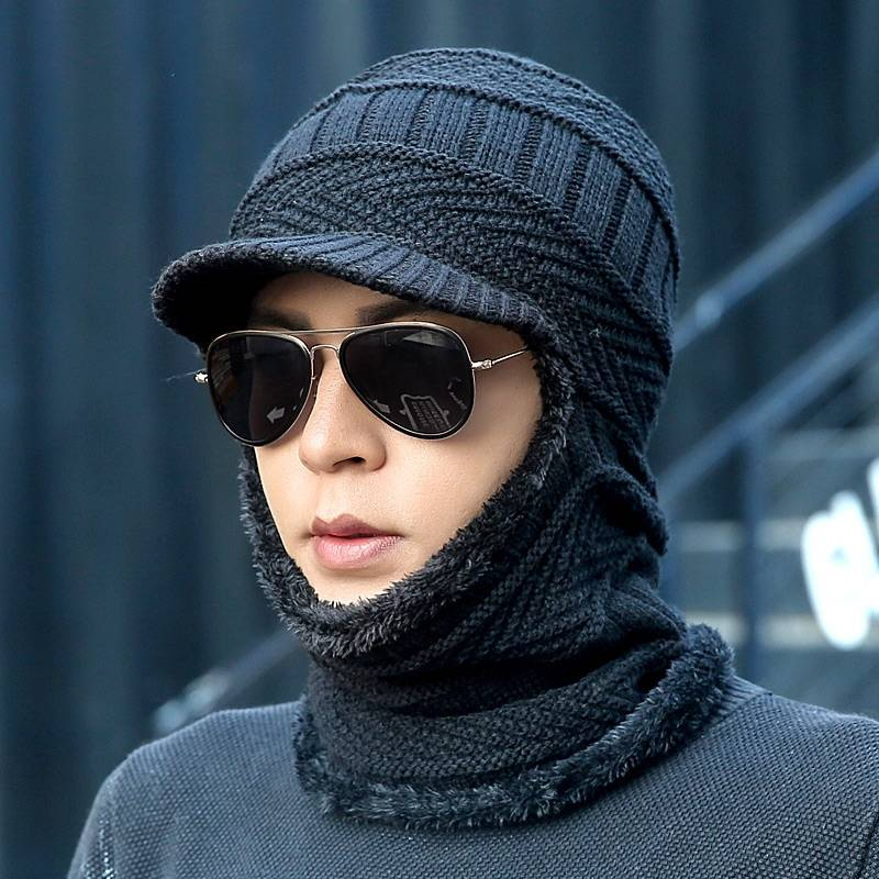2019new Winter Fashion Wool Hat Warm Knit Hat Outdoor Men And Women Cold Protection Cap