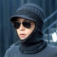 2019new חורף אופנה צמר כובע חם לסרוג כובע חיצוני גברים ונשים קר הגנת כובע