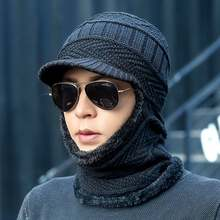 2019 nuovo cappello di lana di moda invernale cappello caldo lavorato a maglia cappello da uomo e donna all'aperto protezione dal freddo