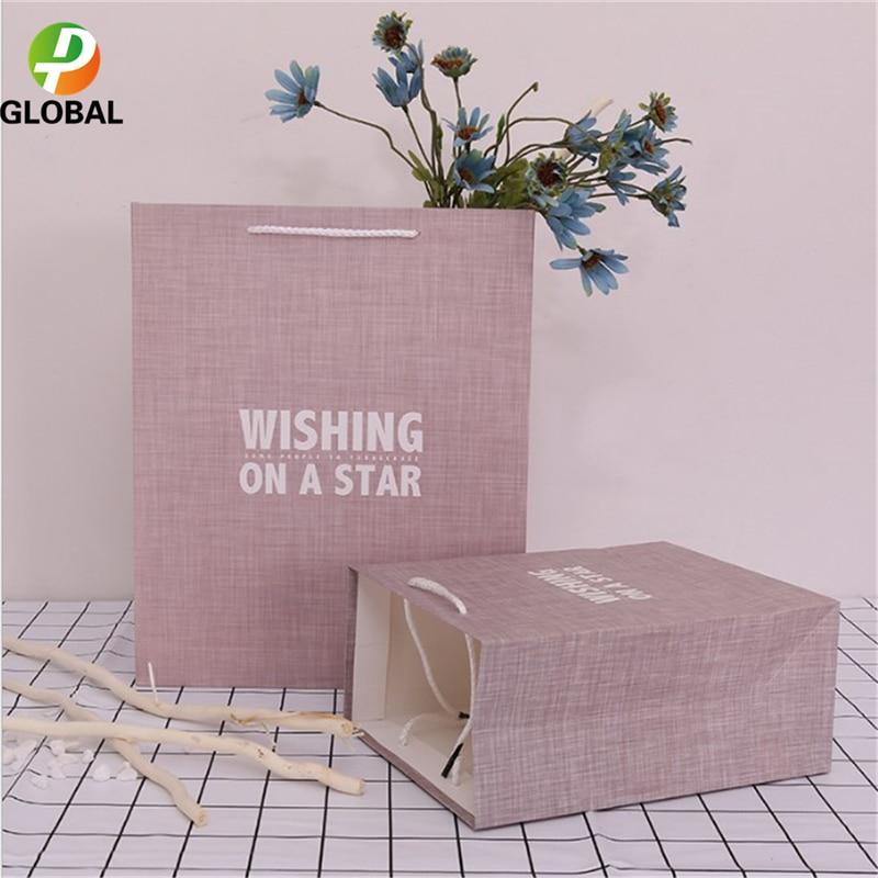 D&P 50pcs Wedding Gift Bag Paper Bag Hand Gift Bag Birthday Party Paper Bag Tote Can Be Customiz 18*23*10cm /26*32*12 cm - 3