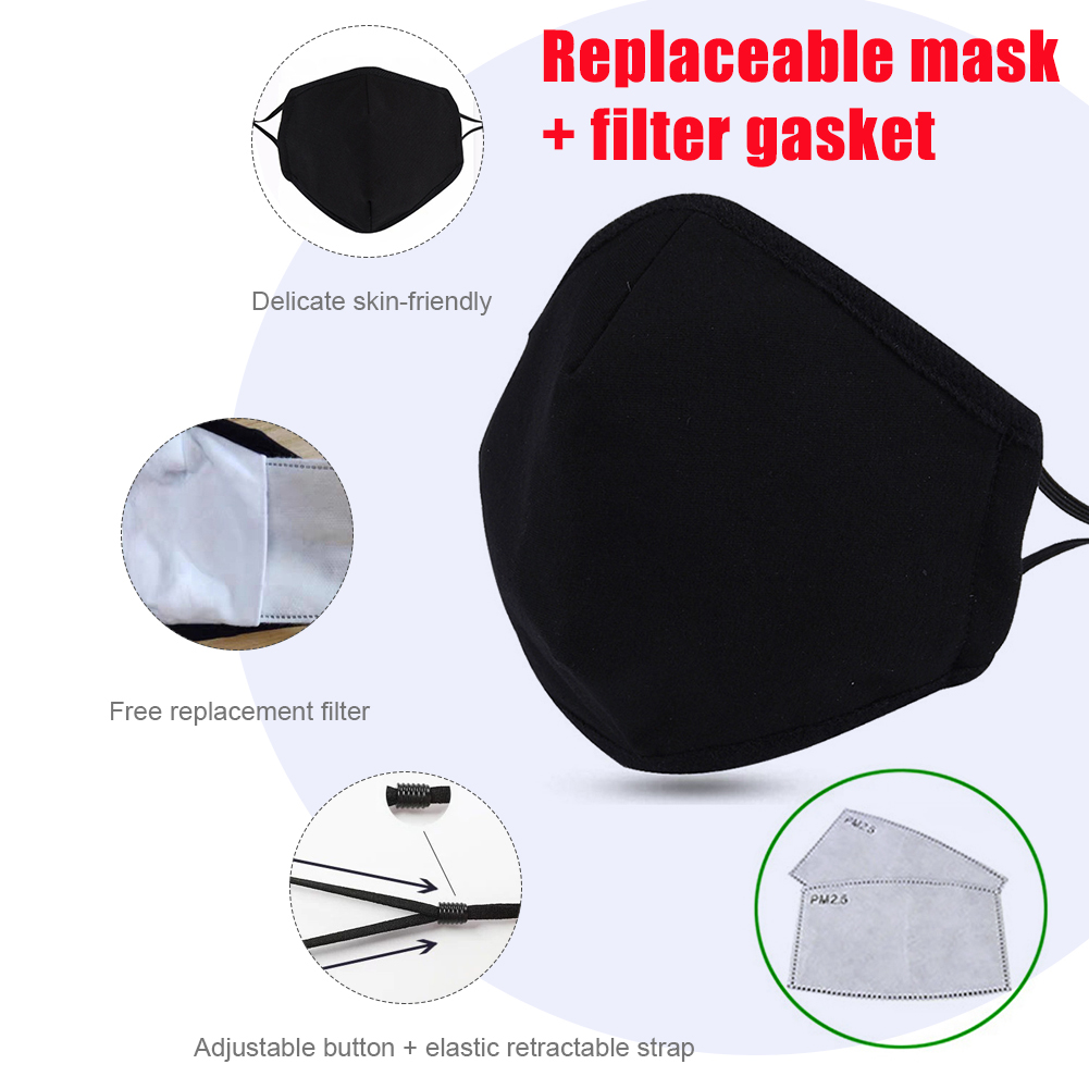 Adjustable Cotton Wear Comfortable Replaceable Filter Element Anti-fog And PM2.5  Washable Mask Cotton Mask