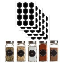60 etiquetas redondas do frasco da especiaria da marca das etiquetas da etiqueta da forma para etiquetas das garrafas da especiaria dos cozinheiros domésticos
