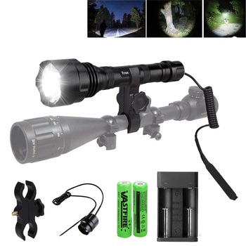 Linterna LED Flashlight T6 1000LM Tactical Flashlights Aluminum Hunting Torch 18650 Flash Light Lamp T1 Powerful Focus Lante 1000 lumen xml t6 led tactical flashlight 1 mode flash light lampe hunting zaklamp linterna led torch 18650 charger
