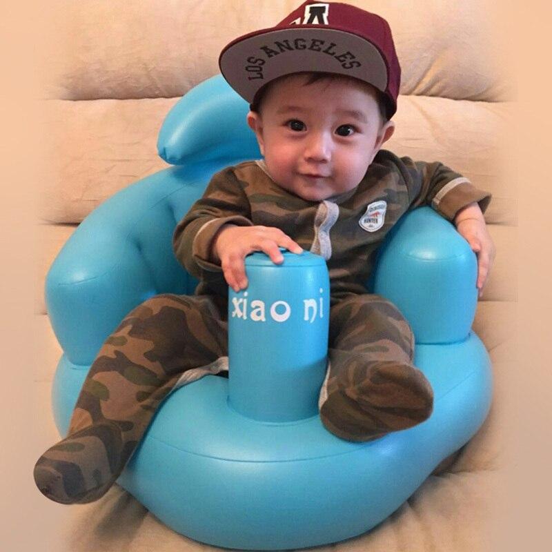 Baby Kid Children Inflatable Bathroom Sofa Chair Seat Learn Portable Multifunctional Yh-17