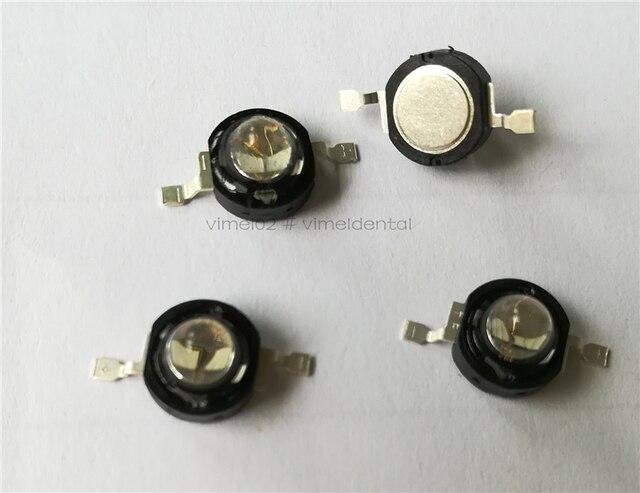 10 sztuk lampy z żarówkami LED na światło do utwardzania stomatologicznego 5W narzędzia stomatologiczne dobrej jakości fioletowe żarówki LED ultrafioletowe żarówki