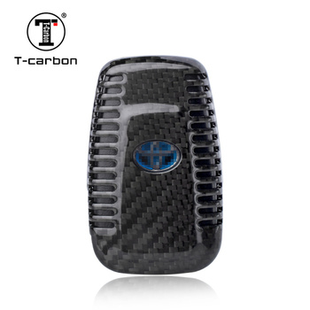 T-carbon Smart Key Case Cover for Toyota Camry 2018 Highlander Land Cruiser Riez RAV4 Prado Auto XA40 Alphard Crown Key Cover