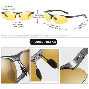 Image 4 - Coolbandas الألومنيوم اللونية الاستقطاب النظارات الشمسية الرجال نظارات للقيادة النساء يوم ليلة سائق نظارات Oculos دي سول Masculino