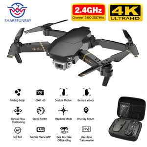 SHAREFUNBAY Drone 4k Camera Back-Quadcopter Wifi Click HD with Keep-One Transmission