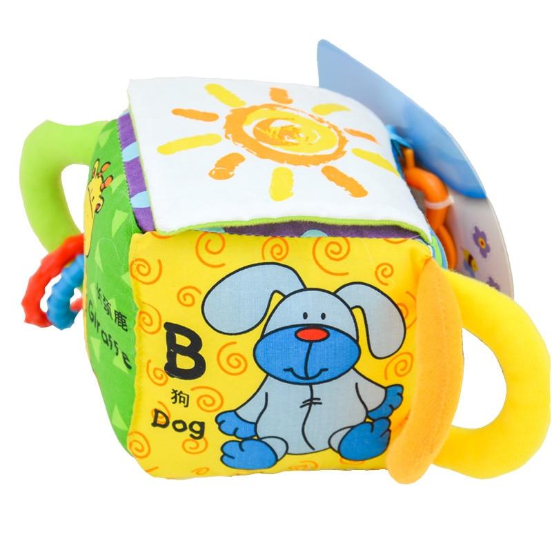 Игрушки для новорожденных 0-12 месяцев, Мультяшные животные, Детские плюшевые погремушки, мобильные игрушки-колокольчики, развивающие игруш...