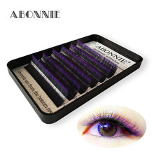 Ombre color magic lashes 1 case 6rows  new arrived bloom eyelash easy fan lashes self making fan bloom faux mink eyelash