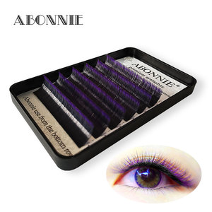 Image 1 - Ombre color magic lashes 1 case 6rows  new arrived bloom eyelash easy fan lashes self making fan bloom faux mink eyelash
