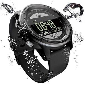 Image 3 - Lokmat esporte relógio inteligente pedômetro 5atm à prova dreal água tempo real relógio digital homem bluetooth smartwatch para ios & android