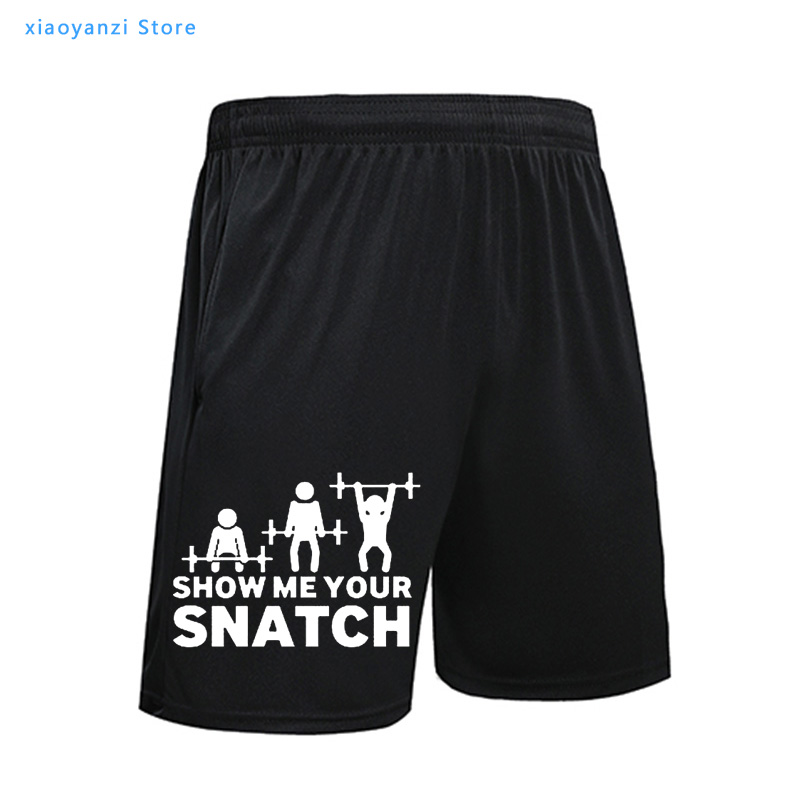 Show Me Your Snatch Funny Printed Shorts Men Summer Casual Casual Sports Short Pants Streetwear Homme Camiseta Masculina