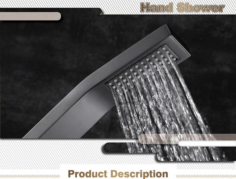 He6d7d303473e4ac9a072257ef1112b02l M Boenn Luxury Shower Systems Set High Pressure Rain LED ShowerHeads Music Shower Panel Thermostatic Mixer Brass Bathroom Faucet