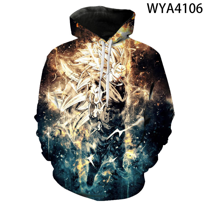 2020 New Dragon Ball Z 3D Hoodies Men Women Children Goku Pullover Long Sleeve Casual Boy Girl Kids DBZ Anime Print Hoodie