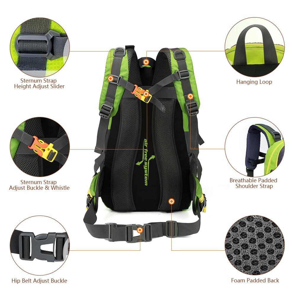 Waterproof Climbing Backpack Rucksack 40L Outdoor Sports Bag Travel Backpack Camping Hiking Backpack Women Trekking Bag For Men