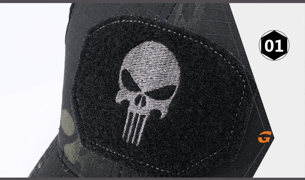 Skull Tactical Military Airsoft Cap Adjustable Breathable Sun Visor Trucker Hat Mesh Hunting Hiking Baseball Skeleton Snapback 20