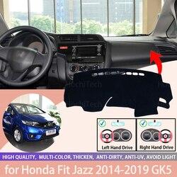 For Honda HR-V Vezel 2014-2019 HRV HR V Dash Cover Mat Dashmat Dashboard Cover Protective Sheet Carpet Styling