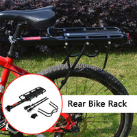 Rear Bike Rack Bicycle Cargo Rack Quick Release Adjustable Alloy Bicycle Carrier Bicycle Rear Shelf #2L29
