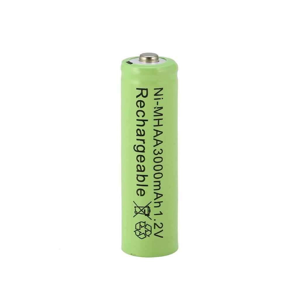 الأخضر 1 قطعة مجموعة ni-mh 3000mAh AA بطاريات 1.2 فولت AA بطارية قابلة للشحن ni-mh بطارية محايدة لمصباح يدوي/كاميرا
