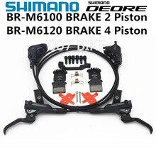 SHIMANO DEORE M6000 M6100 M6120 MT420 frein vtt Hidraulic frein à disque BR BL M6100 M6120 DEORE frein gauche et droite