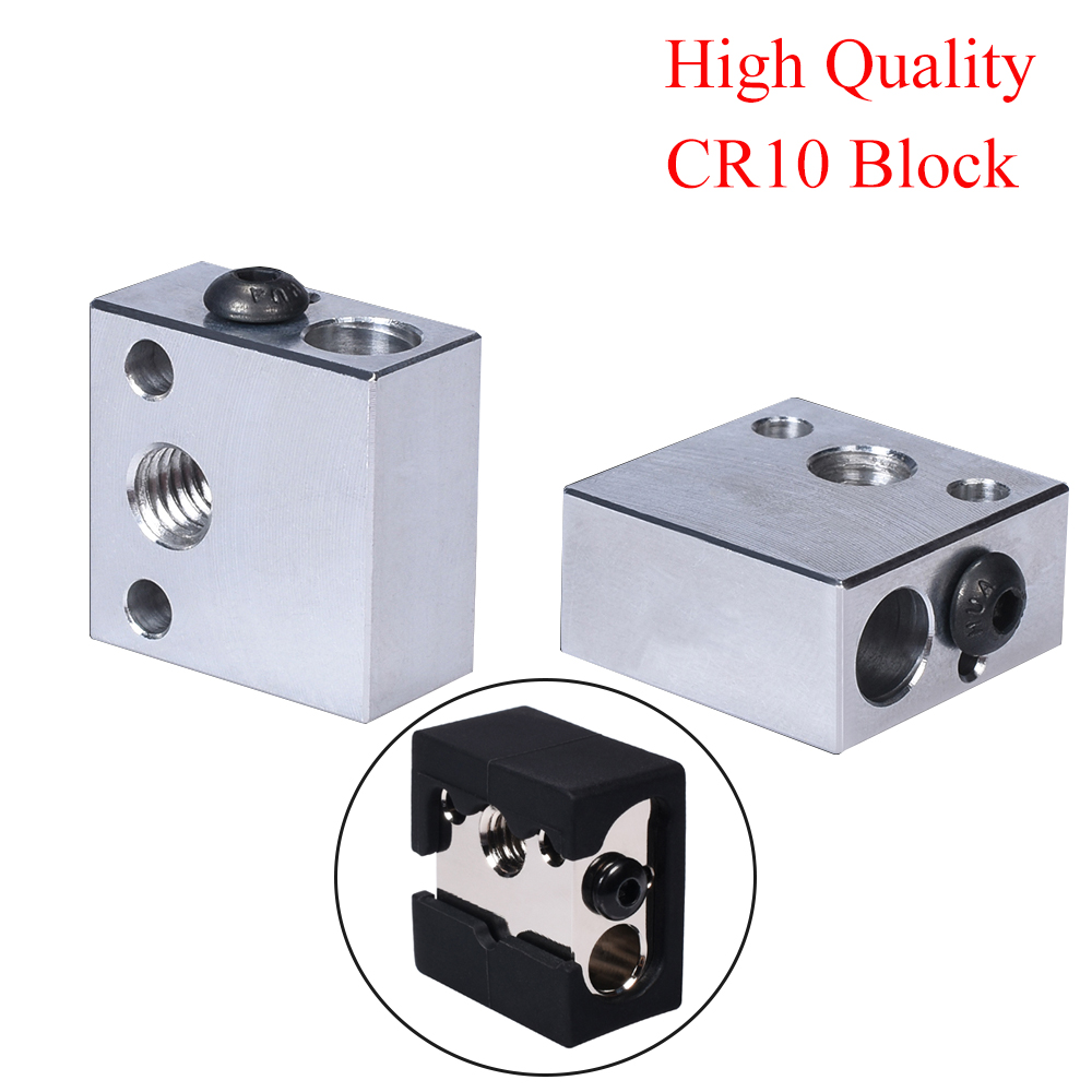 High Quality CR10 Heater Block MK8 Silicone Sock CR10 Hotend Extruder For Creality Ender 3 MK7/MK8/MK9 Block 3D Printer Parts