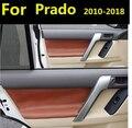 Для Toyota Prado 2010 2011 2012 2013 2014 2015 2016 2017 2018 4 шт. внутренняя панель из микрофибры защитная накладка