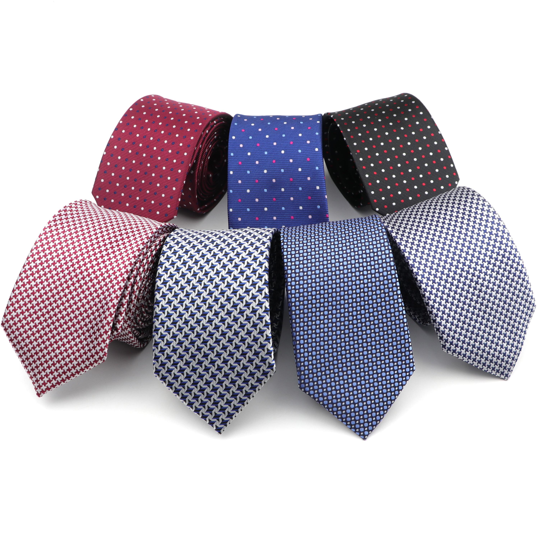 Formal Fashion Necktie Hot 7cm Dot Star Groom Wedding Business Ties Men Design Party 100% Polyester Gravata Arrow Silk Tie