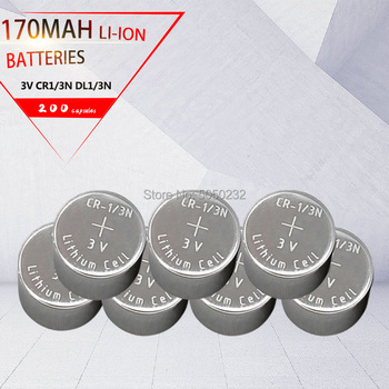 200pcs 3V Li-Ion Battery  CR1/3N 3V CR-1/3N M6 M7 DL-1/3N CR13N Cells CR1/3N Button high-discharge high current Battery