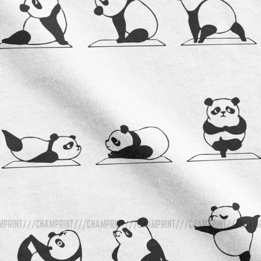 Panda Yoga T Shirt For Men 100 Cotton Funny T Shirts Round Neck Gym Relaxation Cartoon Exercise Animal Tee Shirt Short Sleeve Aliexpress