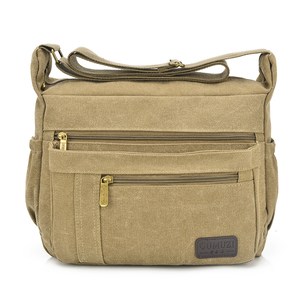 Толстая холщовая Повседневная сумка через плечо, мужская сумка-мессенджер, мужская дорожная сумка для IPAD, кошелек для сотового телефона, ин...