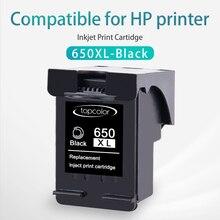 Topcolor для hp 650 XL hp 650 650XL Черный чернильный картридж для принтера hp DeskJet Ink Advantage 1015 1515 2515 2545 2645 3515 3545