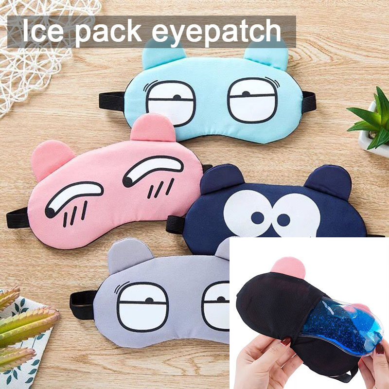 Cartoon Cute Sleep Shading Eyepatch Breathable Ice Eye Hot And Cold Multifunctional Sleep Lunch Break Eyepatch