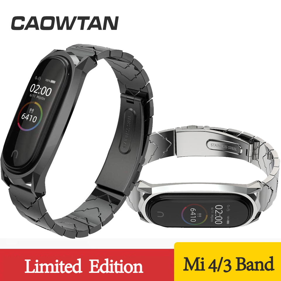 For Mi Band 4 Strap Metal Bracelet For Xiaomi Mi Band 4 3 Strap Screwless Stainless Steel MiBand 3 Wrist Band Wristband